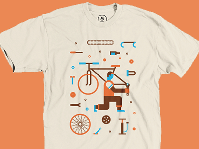 Bike Parts Tee tee shirt bike vector shirt t-shirt apparel