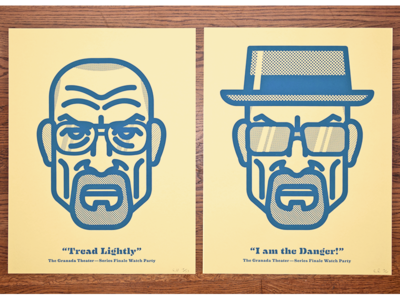 BB Posters breaking bad poster screen printed portrait head walter white heisenberg