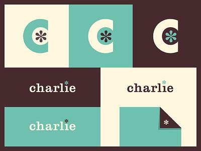 charlie Branding branding color logo type aaron eiland green black teal c serif charlie asterisk