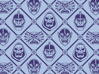 Skeletor Wallpaper motu super 7 vector wallpaper pattern illustration skeletor he-man