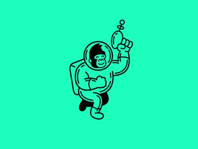 Gorilla Bro illustration mascot vector space gorilla