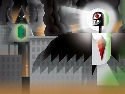Monster Project 2016 pyramid bird gem monster design illustration