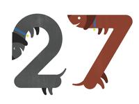 27 Dachshunds
