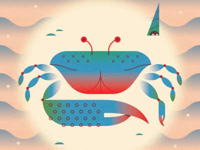 I drew a crab once crab