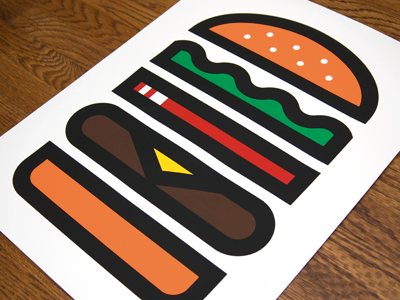 Burger burger screenprint vector