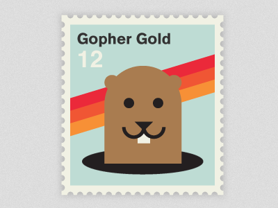Gopher Gold! gopher stamp vector olympics