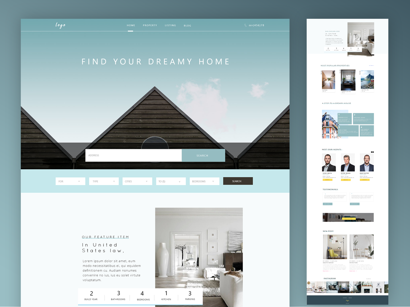 Real Estate-Home Page home best designer real estate agency real estate branding real estate agent real estate branding best design minimal ui ux xd web homepage website design