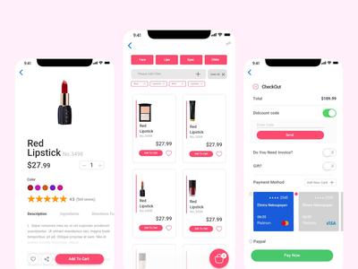 UI/UX Cosmetics app