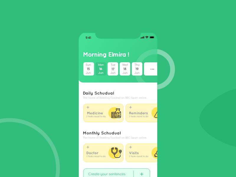 To Do List-Design work todolist application ui application app design app monthly yellow green minimal best design xd ui ux design