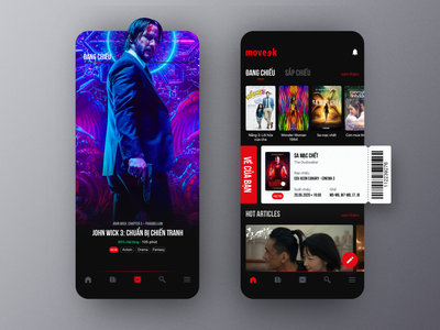 Moveek -  Tickets for 5 Million Movie Fans android design app ios ux ui