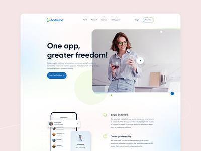 #Concept - Hero Header addaline sketch figma website landingpage concept hero header