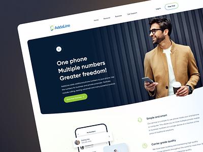AddaLine - Hero Header card uiux ui figma phone app landingpage design website hero header addaline