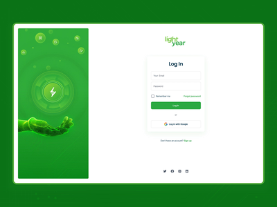 LYD Login Screen Animation green card website sign in login documents motion graphics animation ui
