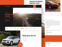 Landing page for rental car