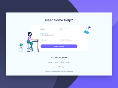 Footer - Need Some Help? uiux design contact section help section website footer uiux