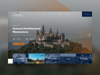 Luxury Realestate - concept website v2 website landing page ui ux concept luxury website