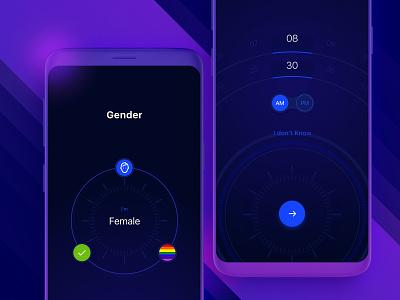 Kalypso - Astrology App mobile app ui ux sketch applicant profile account astrology ios