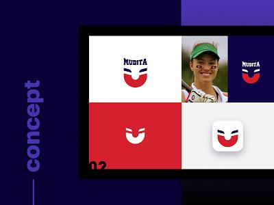 Mudita - Concept logo baseball kute branding concept logo