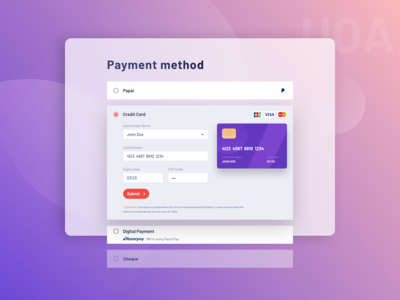 Payment Method UI