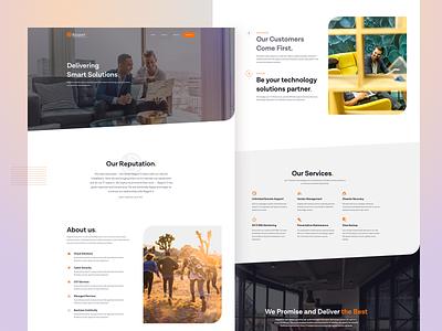 Regent5 Concept unsplash technology sketchapp webdesign landingpage