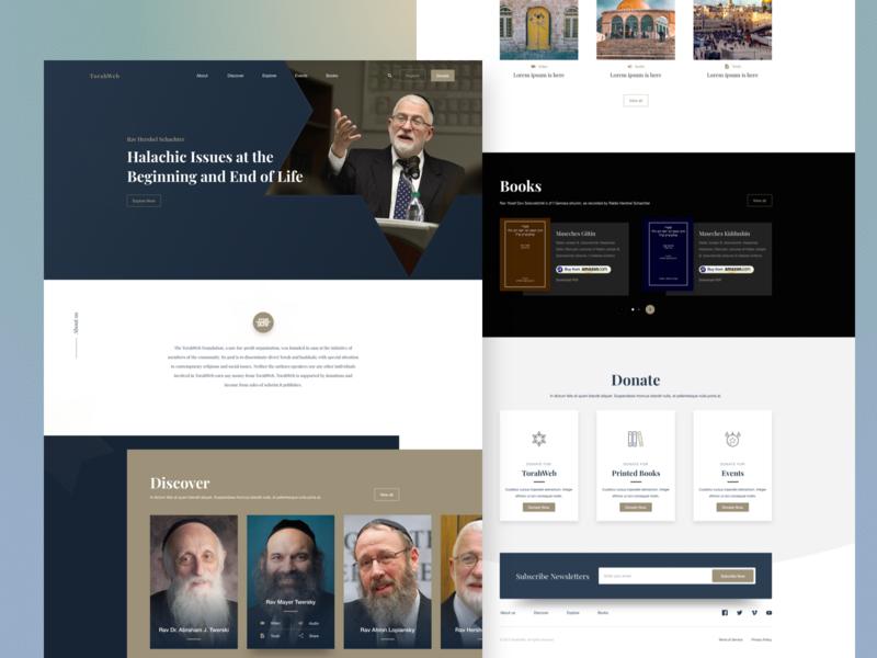 Torahweb Concept jewish torah webdesign landingpage