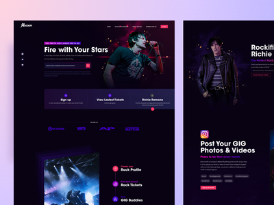 Rockifi Concept webdesign concept landingpage
