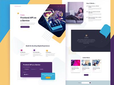 Frontastic Concept sketchapp concept webdesign landingpage