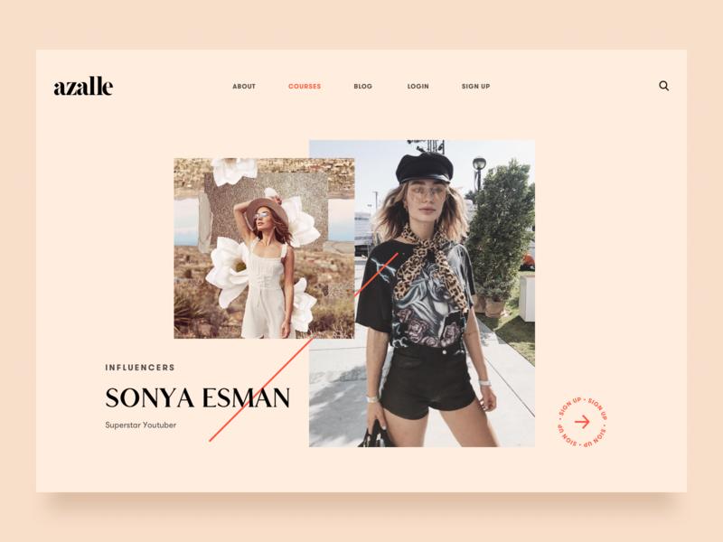 Azalle style fashion fashionista uiux website design