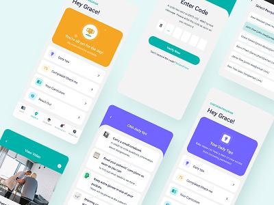 Mock up App app concept ui ux sketch