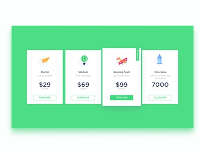 Pricing icons
