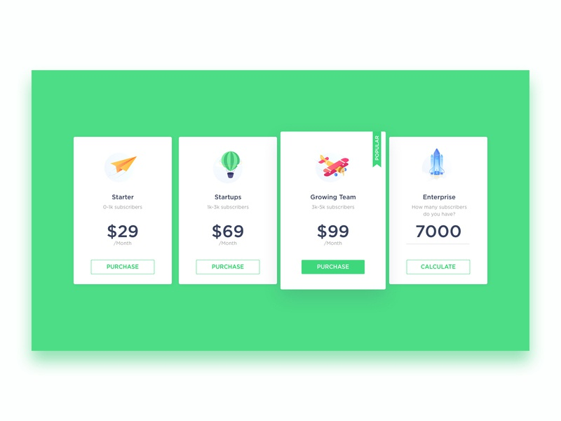 Pricing icons design icons illustrations