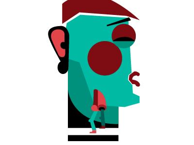 Walking nose illness walking nose sickness illustration vector