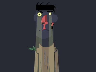 Stiffy mode wood tired insomnia illustration