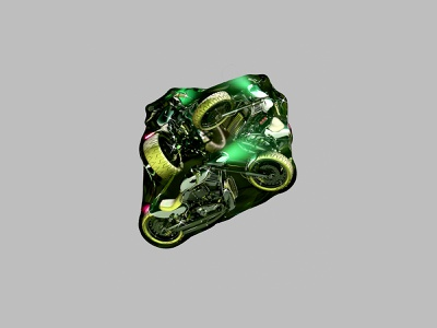 Motorcycle in a Bag - 2019 3d graphics 3d visualart photoshop render cinema4d motorcycle