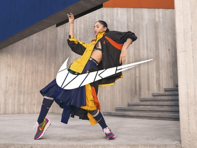 Nike logo restyle hype clothing nike running advertising billboard corporate design visual adobe restyling sports branding design logodesign sports logo dance sport nikesportswear niketo nike
