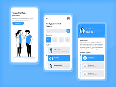 Medical Application Design ui uiuxdesign medical app uidesign uxdesign figma mobileapp design app ilustration uiuxdesigner userinterfacedesign userinterfaces ixd userresearch dribbble best shot mobileappdesign uiinspiration uxinspiration productdesign design