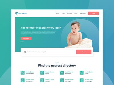 Design Web IamHealty icon figma design uiuxdesign uiinspiration uiux webhealt healthweb baby trendui userinterface uxdesigner uidesigner website webdesign ux ui