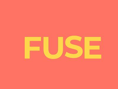 Fuse Animation fuse flat logo illustration logodesign typography artwork animation design