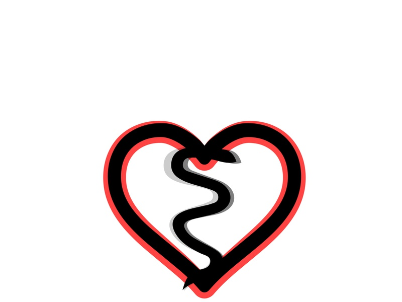 HeartBreak or HeartWicked !!! icon illustration design