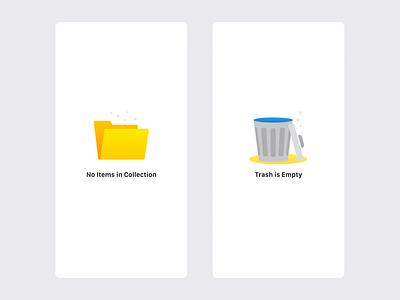 Empty States empty folder trash placeholder empty state ui ios app illustration