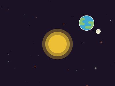 Sun Earth Moon stars moon earth sun planet space