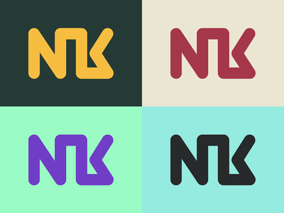 NK Logo Color Variations color scheme monogram logo