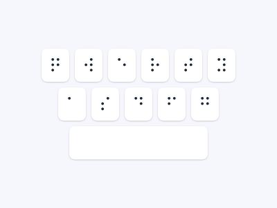 Braille Writer - Braille Keyboard keys keyboard custom braille