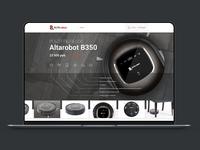 Website design for robotic vacuum cleaner