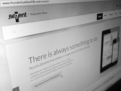 Sevent WordPress + free psd psd texture web design minimal wordpress theme gotham clean web design download free sevent website interface ui freebie