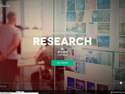 Clipular Homepage homepage screen capture marketing