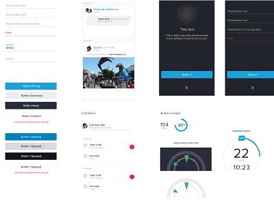 MOOV UI Guide ui moov fitness ios mobile forms feed overlay data viz
