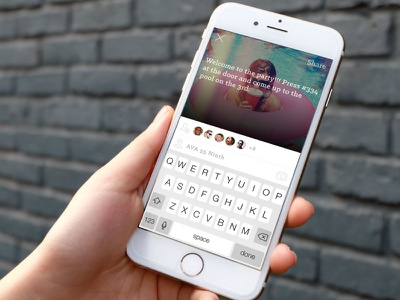 Proximity Share Screen  messaging compose share tagging location image