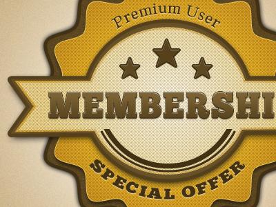 Retro Membership Badge retro vintage badge membership