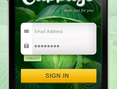 Mobile Login Screen mobile login sign in app